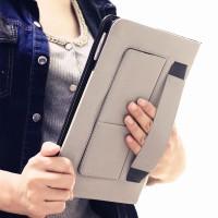 Глянцевый водоотталкивающий чехол книжка подставка с рамочной защитой экрана, с отделениями для карт и поддержкой кисти для Samsung Galaxy Tab S2 8.0 Черный