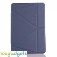 Оригами чехол книжка подставка на силиконовой основе для Samsung Galaxy Tab S2 8.0 Синий