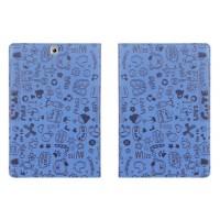 Чехол книжка подставка с рамочной защитой с полноповерхностным принтом для Samsung Galaxy Tab S2 9.7