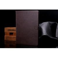 Винтажный чехол книжка подставка на поликарбонатной основе с отделениями для карт и магнитной защелкой для Samsung Galaxy Tab S2 9.7 Коричневый