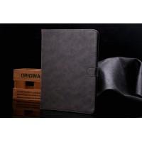 Винтажный чехол книжка подставка на поликарбонатной основе с отделениями для карт и магнитной защелкой для Samsung Galaxy Tab S2 9.7 Серый