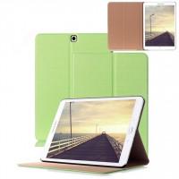Чехол книжка подставка на поликарбонатной непрозрачной основе для Samsung Galaxy Tab S2 9.7 Зеленый