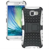 Антиударный гибридный силиконовый чехол с поликарбонатной крышкой и встроенной ножкой-подставкой для Samsung Galaxy A7 (2016) Белый