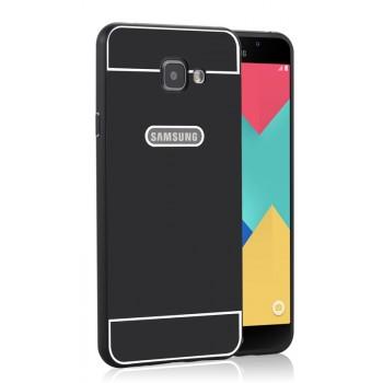 Двухкомпонентный чехол с металлическим бампером и поликарбонатной накладкой для Samsung Galaxy A7 (2016)