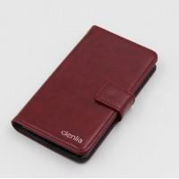 Клеевой чехол портмоне подставка с магнитной защелкой для Acer Liquid E700 Бордовый