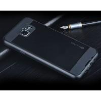 Гибридный чехол накладка силикон/поликарбонат для Samsung Galaxy A7 (2016) Черный