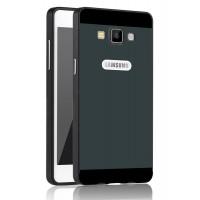 Двухкомпонентный чехол с металлическим бампером и поликарбонатной двухцветной накладкой для Samsung Galaxy A5 Черный