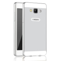 Двухкомпонентный чехол с металлическим бампером и поликарбонатной двухцветной накладкой для Samsung Galaxy A5 Белый