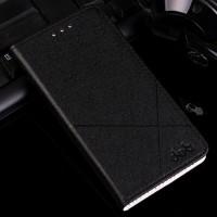 Текстурный чехол флип подставка на пластиковой основе с отделением для карт для Samsung Galaxy A7 (2016) Черный