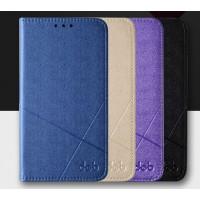 Текстурный чехол флип подставка на пластиковой основе с отделением для карт для Samsung Galaxy A7 (2016)