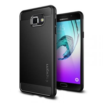 Противоударный гибридный матовый непрозрачный премиум чехол силикон/поликарбонат для Samsung Galaxy A7 (2016)