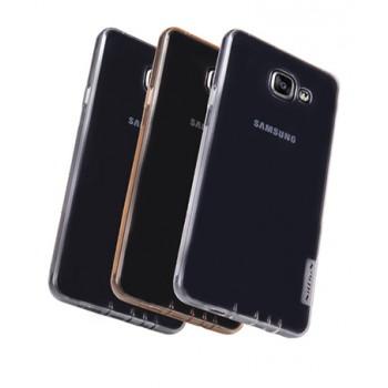 Силиконовый матовый полупрозрачный чехол повышенной защиты для Samsung Galaxy A7 (2016)