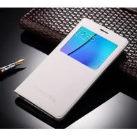 Чехол флип подставка на пластиковой основе с окном вызова для Samsung Galaxy A7 (2016) Белый