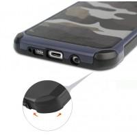 Двухкомпонентный чехол с силиконовой подложкой и поликарбонатной накладкой Камуфляж для Samsung Galaxy A5 (2016) Синий