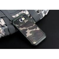Двухкомпонентный чехол с силиконовой подложкой и поликарбонатной накладкой Камуфляж для Samsung Galaxy A5 (2016) Зеленый