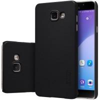 Пластиковый матовый нескользящий премиум чехол для Samsung Galaxy A5 (2016) Черный