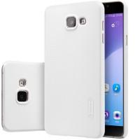 Пластиковый матовый нескользящий премиум чехол для Samsung Galaxy A5 (2016) Белый
