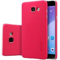Пластиковый матовый нескользящий премиум чехол для Samsung Galaxy A5 (2016) Красный