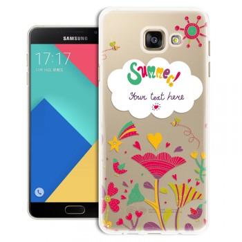 Силиконовый матовый дизайнерский чехол с эксклюзивной серией принтов для Samsung Galaxy A5 (2016)