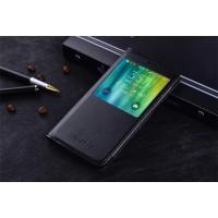 Чехол флип подставка на пластиковой основе с окном вызова для Samsung Galaxy A5 (2016) Черный