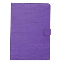 Чехол книжка подставка текстура Дерево на поликарбонатной основе с магнитной защелкой для Samsung Galaxy Tab A 8 Фиолетовый