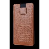 Кожаный мешок (нат кожа крокодила) на липучке для Samsung Galaxy Note 5