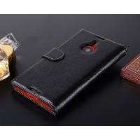 Кожаный чехол портмоне для Nokia Lumia 1520 Черный