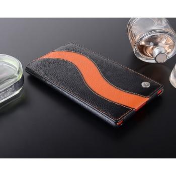 Кожаный чехол вертикальная книжка с дизайнерской полоской для Nokia Lumia 1520