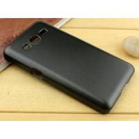 Пластиковый чехол серия Metallic для Samsung Galaxy Core 2 Черный