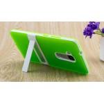 Двухкомпонентный силиконовый чехол с пластиковым бампером-подставкой для Huawei Honor 5X