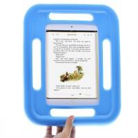Антиударный силиконовый детский чехол с ручками для Ipad Mini 1/2/3 Голубой