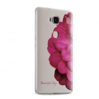 Силиконовый матовый дизайнерский чехол с эксклюзивной серией принтов для Huawei Honor 5X