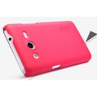Премиум пластиковый матовый чехол для Samsung Galaxy Core 2 Пурпурный