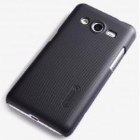 Премиум пластиковый матовый чехол для Samsung Galaxy Core 2 Черный