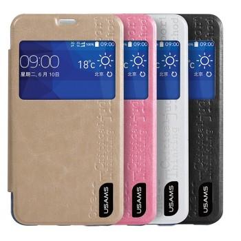 Чехол флип с окном вызова на прозрачной основе для Samsung Galaxy Core 2