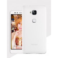 Силиконовый матовый полупрозрачный чехол для Huawei Honor 5X Белый