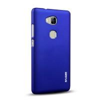 Пластиковый матовый непрозрачный Металлик чехол для Huawei Honor 5X Синий