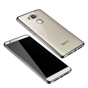 Силиконовый матовый полупрозрачный чехол (металлизированное напыление) для Huawei Honor 5X