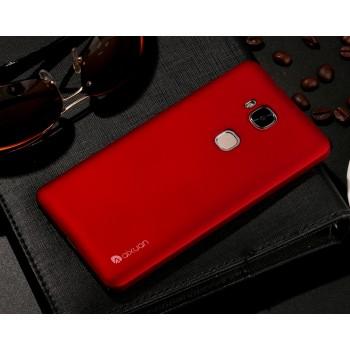 Пластиковый матовый непрозрачный чехол с дополнительной защитой торцев для Huawei Honor 5X