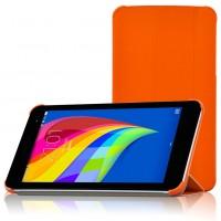 Чехол флип подставка сегментарный для Huawei MediaPad T1 7.0 Оранжевый