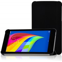 Чехол флип подставка сегментарный для Huawei MediaPad T1 7.0 Черный