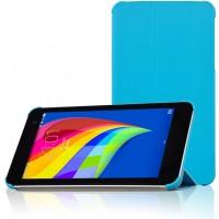 Чехол флип подставка сегментарный для Huawei MediaPad T1 7.0 Голубой