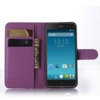 Чехол портмоне подставка с защелкой для ZTE Blade X7/Z7 Фиолетовый