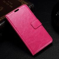 Чехол портмоне подставка с защелкой на пластиковой основе для Microsoft Lumia 550 Пурпурный