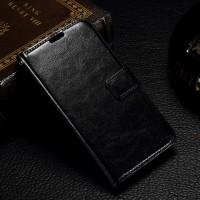 Чехол портмоне подставка с защелкой на пластиковой основе для Microsoft Lumia 550 Черный