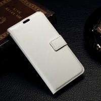 Чехол портмоне подставка с защелкой на пластиковой основе для Microsoft Lumia 550 Белый