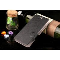Текстурный чехол флип подставка на силиконовой основе и магнитной застёжке для ZTE Blade X3 Черный