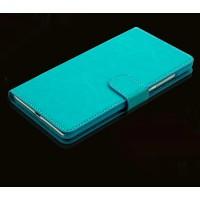 Чехол портмоне подставка с защелкой для ASUS Zenfone Go Голубой