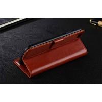 Чехол портмоне подставка с защелкой для ASUS Zenfone Go Коричневый