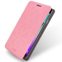 Водоотталкивающий чехол флип подставка на силиконовой основе для Samsung Galaxy A3 (2016) Розовый